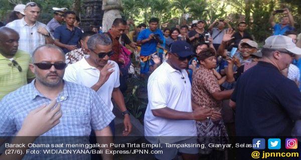 Obama Kunjungi Pura Tirta Empul Tampaksiring Bali - JPNN.COM