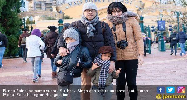 Bunga Zainal Nikmati Liburan Bersama Keluarga Ke Eropa Page 1