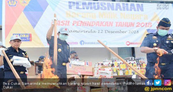 Gencar Penindakan, Bea Cukai Kembali Musnahkan Barang Sitaan - JPNN.COM