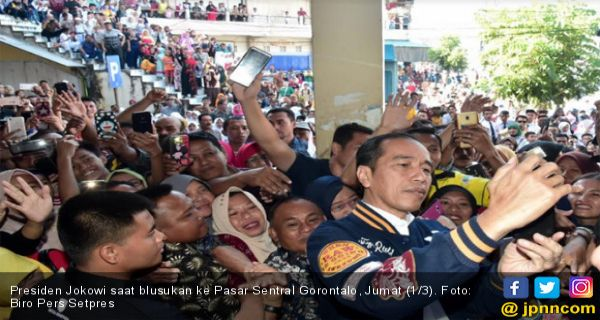 Jokowi dan Iriana Blusukan ke Pasar Sentral Gorontalo - JPNN.COM