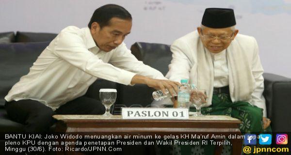 Asalamualaikum, Ini Ucapan Selamat dan Pesan Gus Mus buat Jokowi - Ma'ruf - JPNN.COM
