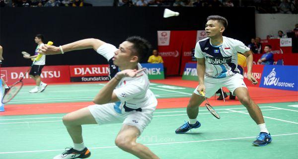 FajRi dan Ginting Tembus Perempat Final Indonesia Masters 2020 - JPNN.COM