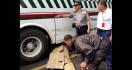 Motor Masuk Kolong Bus, Tubuh Reza Terlindas - JPNN.com