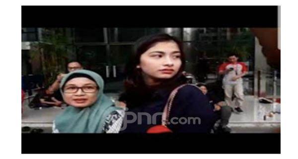 Artis Cantik Faye Nicole Hanya Terdiam Setelah Selesai Diperiksa KPK - JPNN.COM