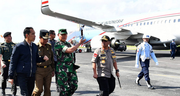 Presiden Jokowi Tiba di Natuna - JPNN.com