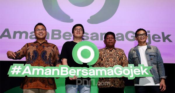 Suasana acara Peluncuran Inisiatif dalam Menciptakan Ekosistem yang Aman di Kantor Gojek, Jakarta, Jumat (28/2). Foto: Ricardo - JPNN.com